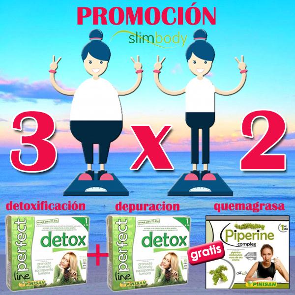 Promoción 3x2 detox + piperine